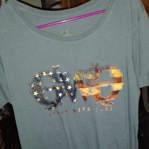 Gwg girls with guns t shirt. Gray 2×